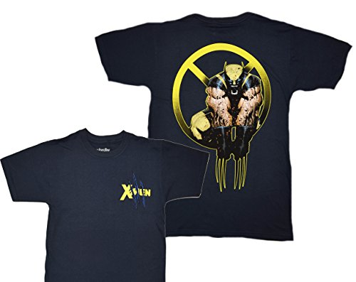 Marvel Wolverine Logan Claws Attack X-men T-shirt (Extra Large , Navy) (City Of Logan)