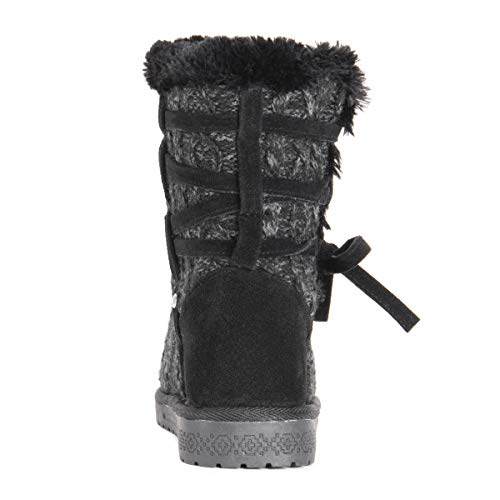 Muk Luks Women's Camila Boots Fashion, Black, 10 M Us