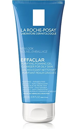 La Roche-Posay Effaclar Purifying Foaming Gel Face Wash Cleanser for Oily Skin, 6.76 Fl. Oz.