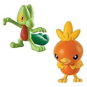Tomy Pokemon Acción Pose Figura Pack - Treecko vs Torchic