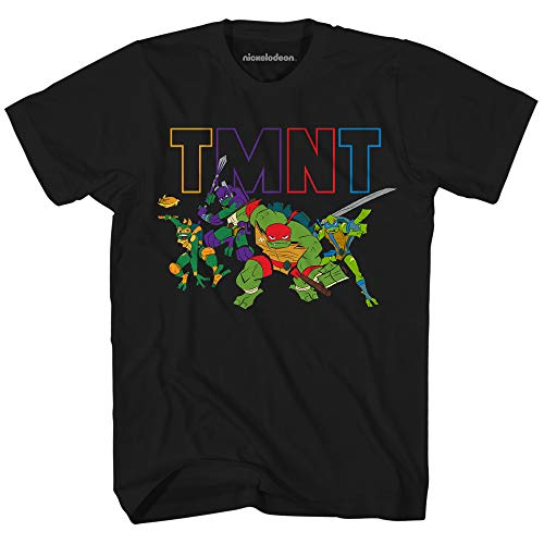 Teenage Mutant Ninja Turtles Boys' Little Rise TMNT T-Shirt, Black, Medium ()