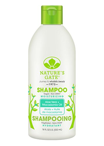 Nature's Gate Natural Aloe Vera and Macadamia Oil Moisturizing Daily Shampoo for Normal to Dry Hair, Jojoba Oil; Vegan, Non GMO, Gluten Free, Soy Free, Paraben Free, Cruelty Free, 18 Ounce (Pack of 4) Aloe Vera Herbal Shampoo