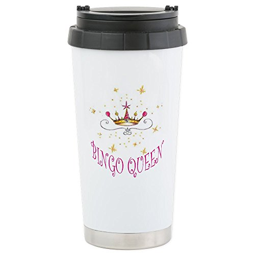 CafePress - Bingo Queen - Stainless Steel Travel Mug, Insulated 16 oz. Coffee - Mug Bingo