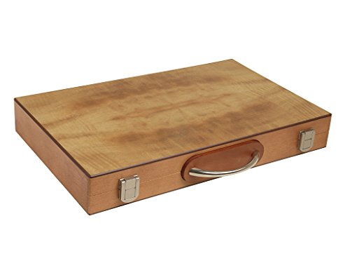15-inch Wood Backgammon Set - Olive Burl (15 Backgammon Set)
