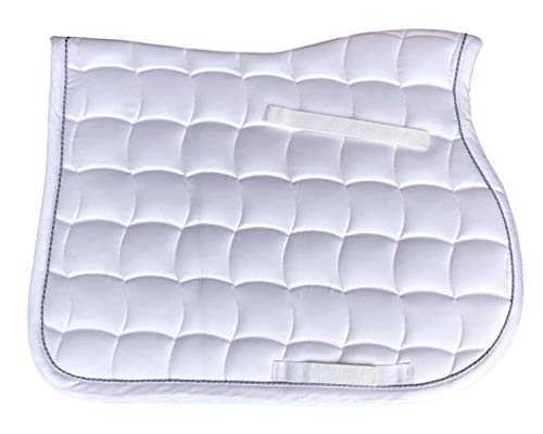 Elegance White AP All Purpose Saddle Pad Full Horse Size
