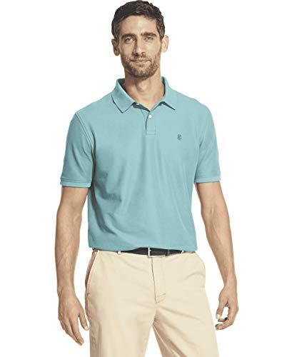IZOD Men's Advantage Performance Short Sleeve Solid Polo, Caneel Bay, Small ()