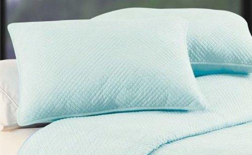 C&F Enterprises, Inc. Hampton Silver Blue Reversible Cotton Throw Silver Diamond Basketweave
