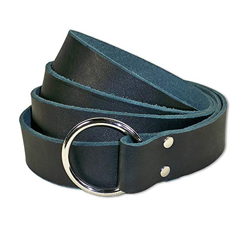 By The Sword Medieval Ring Belt, Black