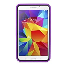 Lovelifemall Samsung Galaxy Tab 4 7.0 Kids Case -Durable Heavy Duty Rugged Impact Hybrid Case with Built-in Screen Protector For Samsung Galaxy Tab 4 7.0 (SM-T230 / SM-T231 / SM-T235) (Purple)