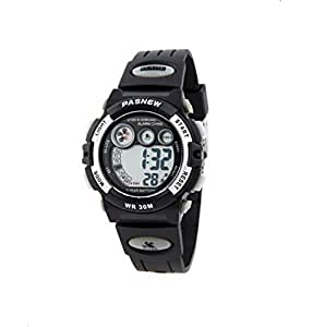 Multifunction water-proof sport digital watch with alarm stopwatch for boys and girls /silver