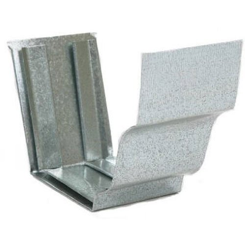 Gutter Slip Joint - AMERIMAX HOME PRODUCTS 15209 4-Inch Mill Finish Galvanized Slip Joint