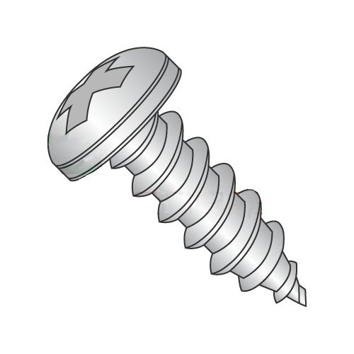 "#8 X 1 1/4"" Type A Self-Tapping Screws/Phillips/Pan Head / 18-8 Stainless Steel (Carton: 2,000 Pcs)"