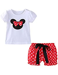 2c70d3afae78 Little Girls Clothes Sets Cute Outfits Polka Dot