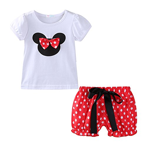 Mud Kingdom Toddler Girls Holiday Outfits Cute Clothes Short Sets 24M Red -