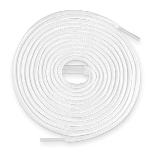 (Lace Kings Oval Shoelaces (White - 49in))