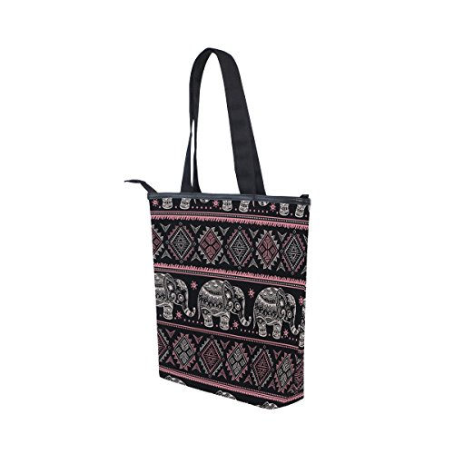 Elephant Tote Womens Shoulder Canvas MyDaily African Bag Ethnic Handbag Tribal 08qxwdZ