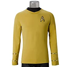 Star Trek TOS The Original Series Captain Kirk Yellow Shirt Uniform Costume