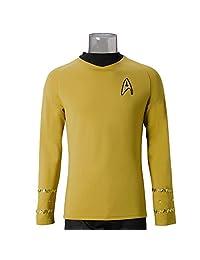 Star Trek TOS The Original Series Captain Kirk Yellow Shirt Uniform Costume