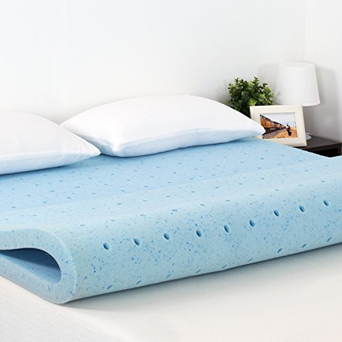 Furinno 2-Inch Hd Gel-Infused Bed Mattress Conventional, Cal King, Blue