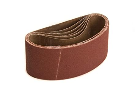 Mirka 57-4-24-100 4-Inch by 24-Inch Portable Abrasive Belt by Weight Cloth 10 Pieces