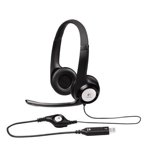 Logitech ClearChat Comfort USB Headset H390 with Mic - Black (Certified Refurbished) by Logitech