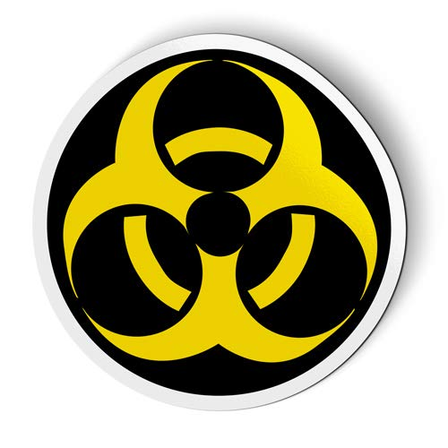 Biohazard Sign Circle - Flexible Magnet for Fridge, Locker - 3