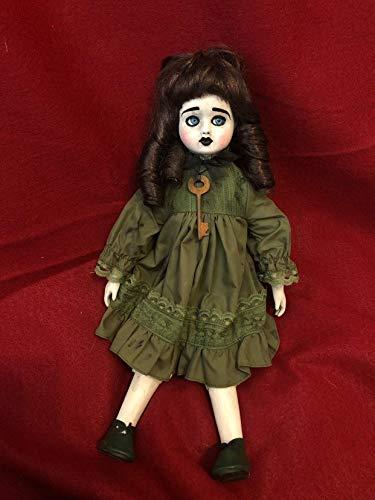OOAK Sitting Blue Eye Rosy Cheek Key Creepy Horror Doll Art by Christie Creepydolls -