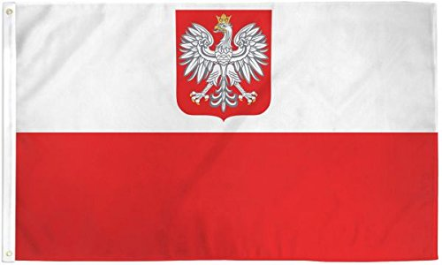 Poland Eagle Flag 3x5ft Nylon ()