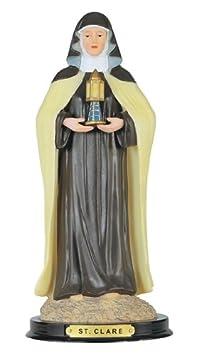12 Inch St Clare Saint Santa Clara Claire San Statue Figurine Figure Religious .