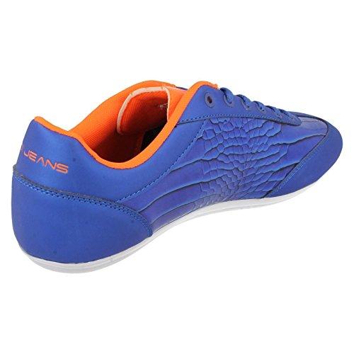 Voi Mens Winchester 264 Patent Sneaker, Kobalt/Orange Dunkelblau