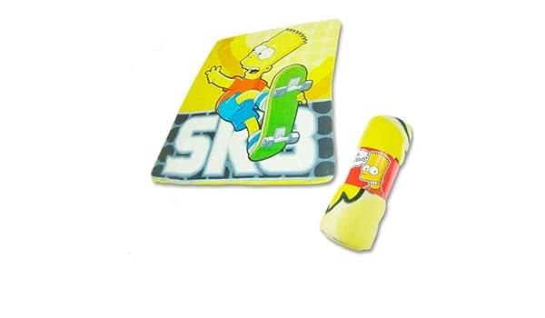 Simpsons - manta polar, Bart Skate 120 x 120 cm 220 g/m ...