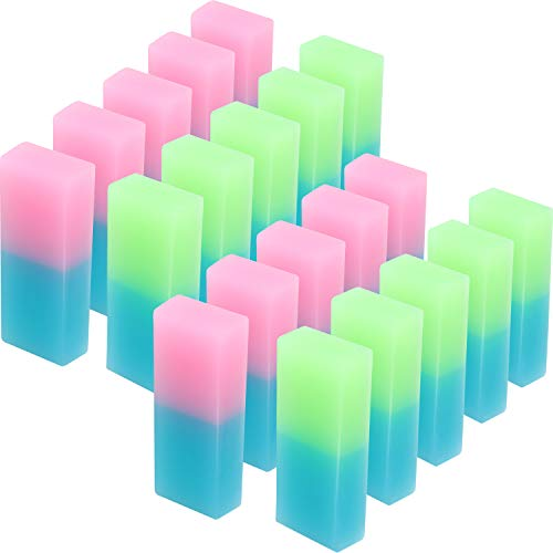 - Boao Double Colored Pencil Eraser Flexible Rubber Erasers for School Office Supplies (20 Pieces)