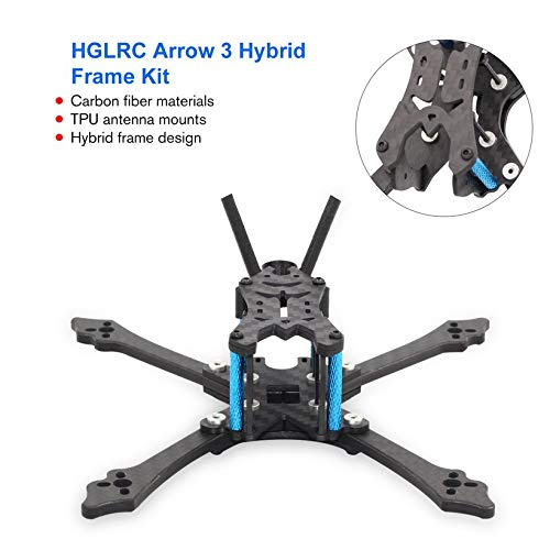 Wikiwand HGLRC Arrow 3 inch Hybrid Frame Kit Arm 4mm for FPV Racing Drone Frame Kit by Wikiwand (Image #2)