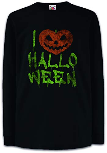 I Love Halloween Kids Boys Girls Long Sleeve T-Shirt -