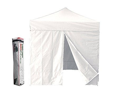 New Eurmax Basic 8×8 Ft Ez Pop up Canopy Wedding Gazebo Outdoor Tent+4 Removable Zipper End Sidewalls with Deluxe Carry Bag (White)