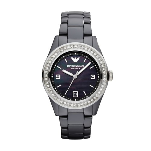 (Emporio Armani Watch, Women's Black Ceramic Bracelet Ar1468)