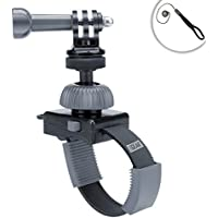 Quick Release Zip-Tie Strap Mount w/ 360 Degree Rotating Head for Compact Cameras by USA Gear - Works With Canon , Nikon , Fujifilm , Panasonic & More Point and Shoot Cameras