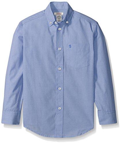 IZOD Big Boys' Micro Thin Stripe Woven Shirt, Medium Blue, Large - Micro Stripe Polo