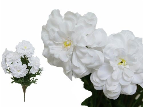 Tableclothsfactory-4-Bushes-California-Zinnia-Artificial-Wedding-Craft-Flowers-White