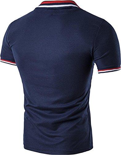 Sportides - Polo - para hombre azul marino