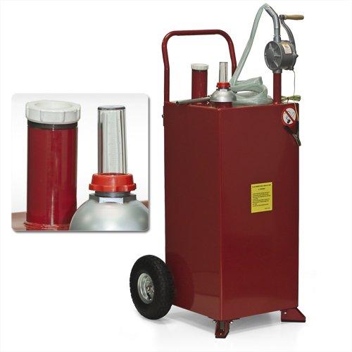 Best Choice Products SKY1369 Gas Caddy Tank Storage Drum Barrel Gasoline Fluid Diesel Carrier Pump, 30 Gallon