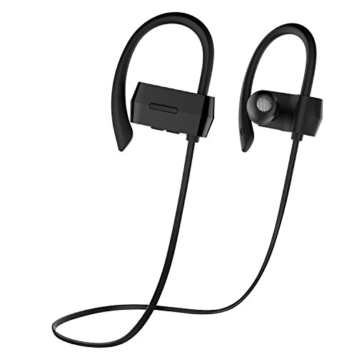 OldShark Bluetooth Earbuds V4.1 Sweatproof Wireless Sport Stereo Headphones with Microphone 7 Hours Play Time Noise Cancelling for Running Workout Bla