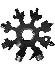مفتاح ربط 18 في 1 متعدد الاستخدامات من ايجولتز بتصميم ندفة الثلج مصنوع من الستانلس ستيل | مفك ذكي وعملي متعدد الاغراض | هدية رائعة للكريسماس للرجال والشباب