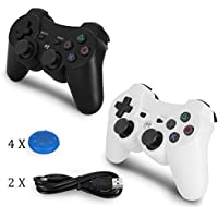 YU33 PS3 Controller Wireless 2 Pack - Dualshock 3 Games...