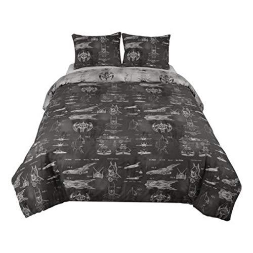 (DC Comics Batman Comforter Full Queen Size with Shams 3 Pieces Set)