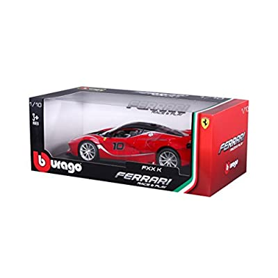 Ferrari Bburago B18-16010 FXX-K Diecast Model Kit, Red, 1:18 Scale: Toys & Games