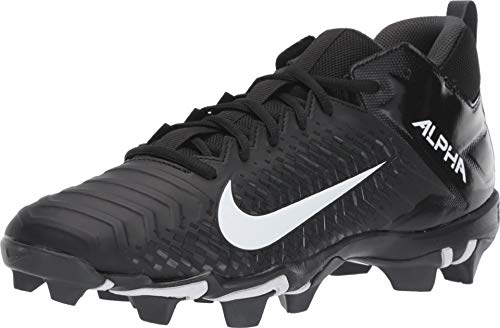 Nike Men's Alpha Menace 2 Shark Football Cleat Black/White/Anthracite Size 7 M US