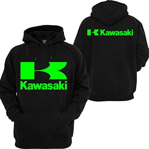 Kawasaki Racing Pullover Hoodie Sport Ninja Bike JDM Turbo Motocross Hooded Sweatshirt