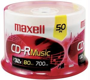MAXELL 625156 - CDR80MU50PK 80-Minute Music CD-Rs