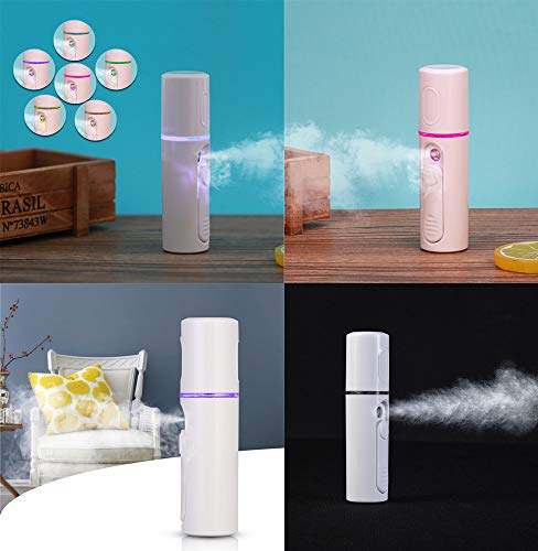Xindda Humidifier, Facial Spray Humidifier Water Hydrator with USB Charging Nano Spray Instrument ()